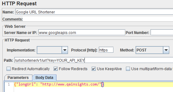 URL Shortener HTTP Request