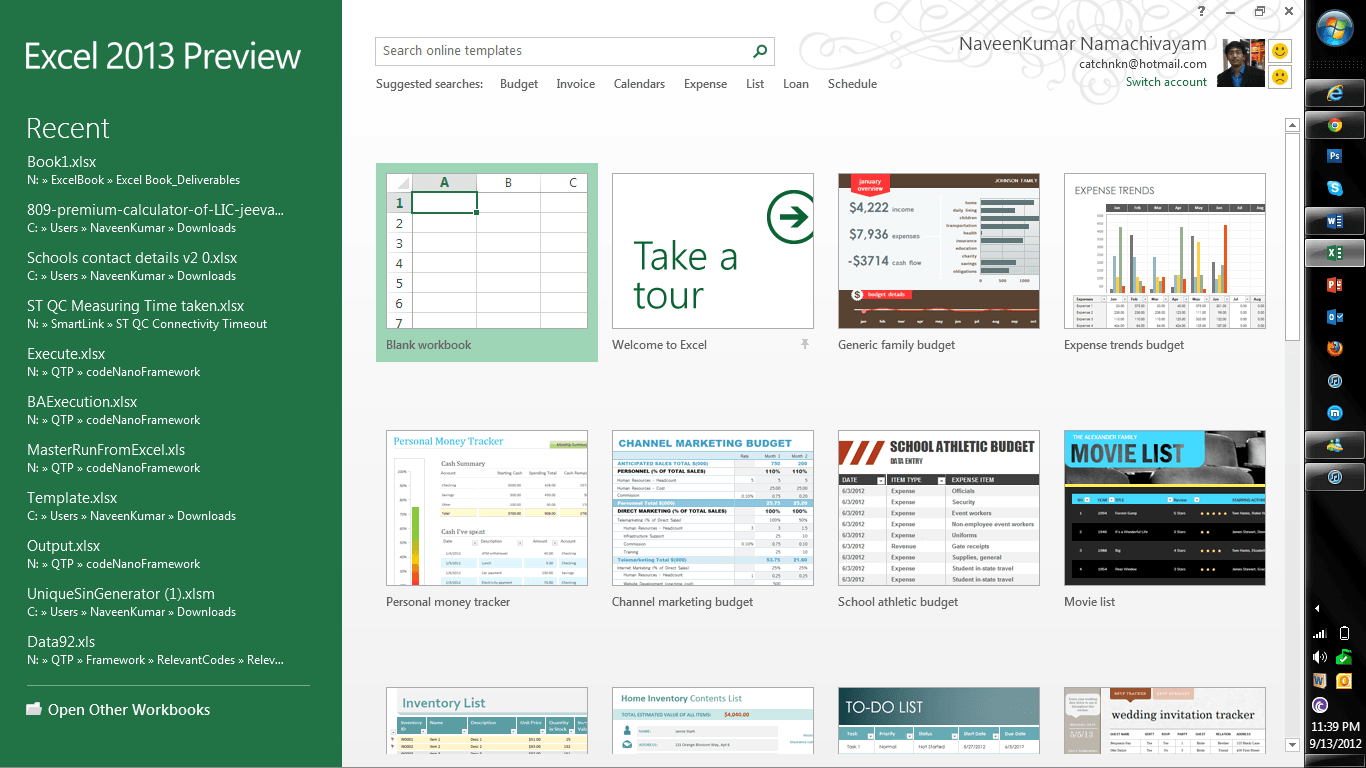 microsoft excel 2013 features