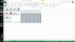 Microsoft Excel 2013 Features Themes