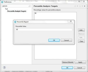 How to change percentile value in IBM Rational Performance Tester - Change Percentile Window QAInsights