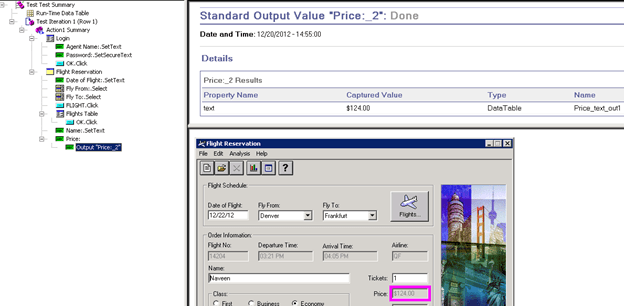 How to insert Output values in QTP - Detailed Results - QAInsights