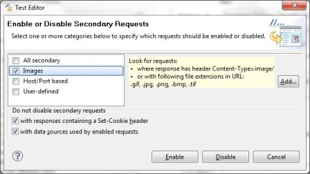 IBM Rational Performance Tester Best Practices - Enable or Disable Secondary Requests Dialog Box - QAInsights