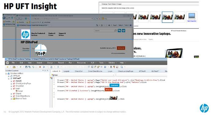Image Based Automation HP Unified Functional Testing 11.5 UFT  - QAInsights