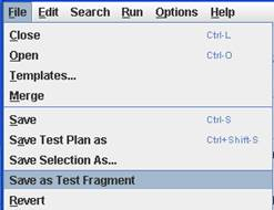 Save as Test Fragment option