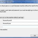 LoadRunner Agent Runtime Settings