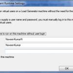 LoadRunner Agent Runtime Settings