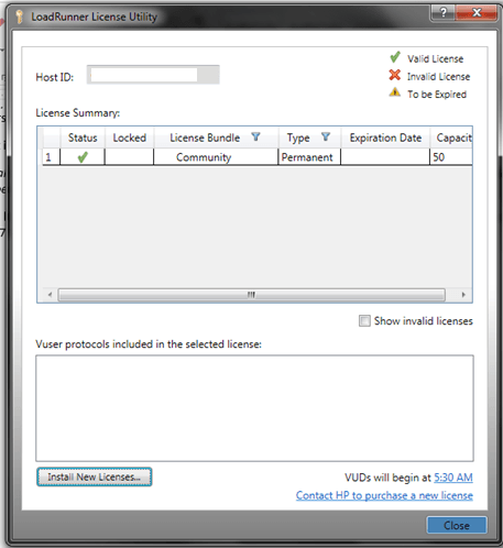 HP-LoadRunner License Utility