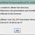 How to resolve Root CA Certificate message in JMeter - 1