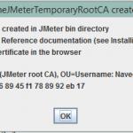 How to resolve Root CA Certificate message in JMeter
