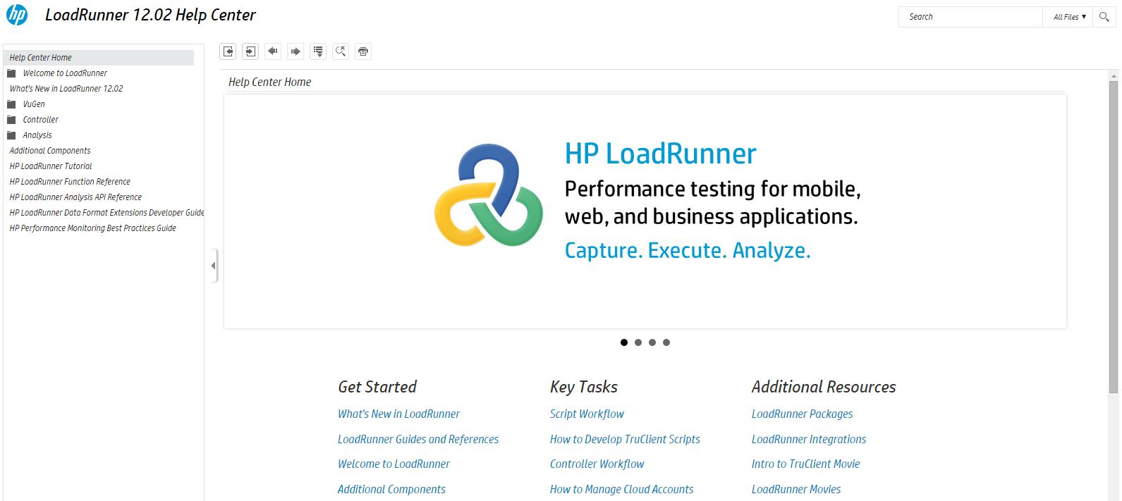 HP LoadRunner Help Center