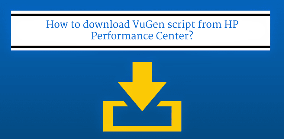 How to download VuGen script from HP Performance Center?