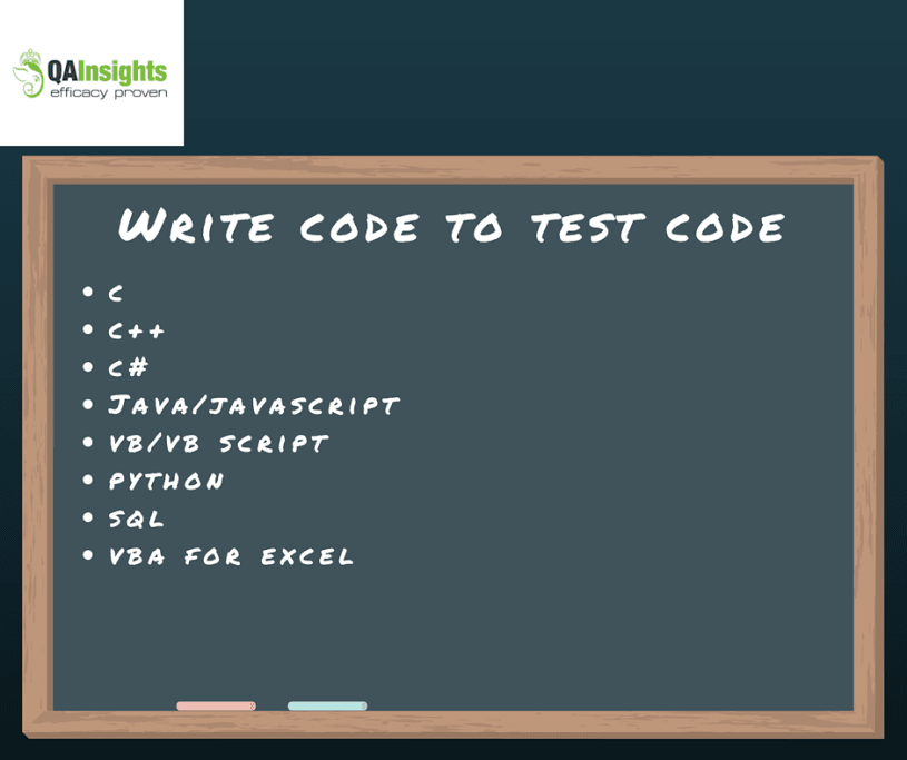 Write code to test code