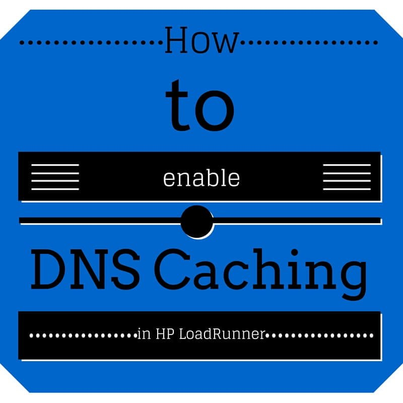 How to disable DNS Caching for the web services protocol in LoadRunner