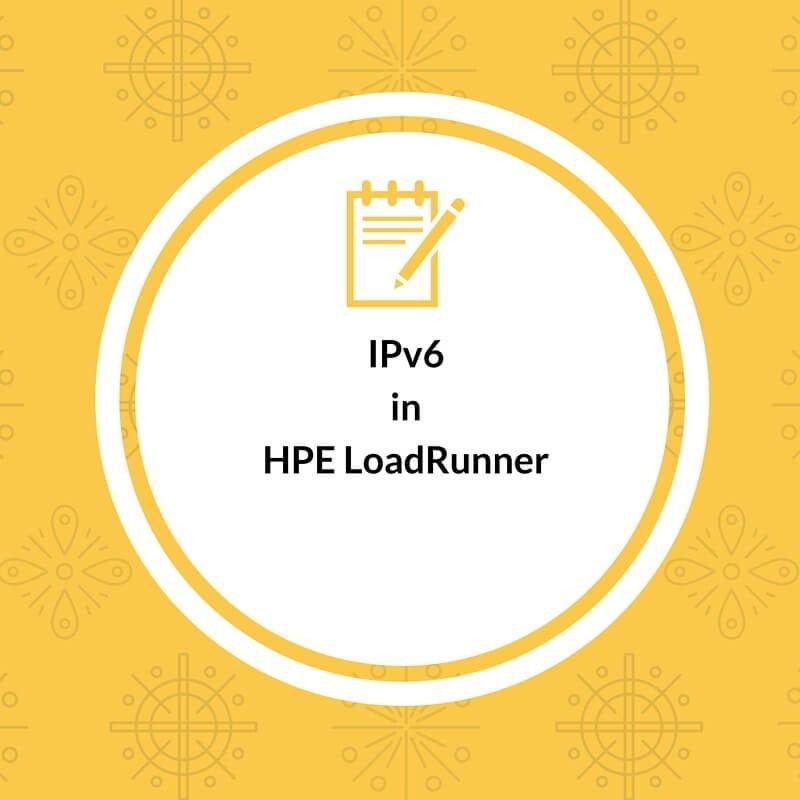 IPv6 Support in LoadRunner