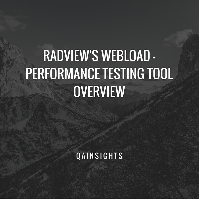 WebLOAD - Performance Testing Tool Overview