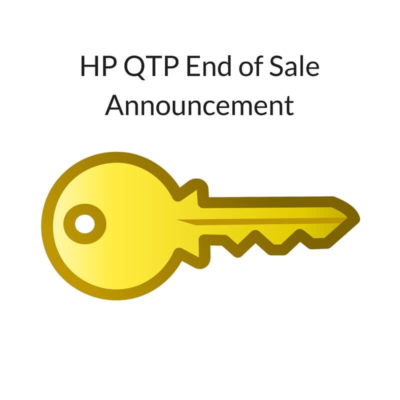 HP QTP End of Sale Announcement