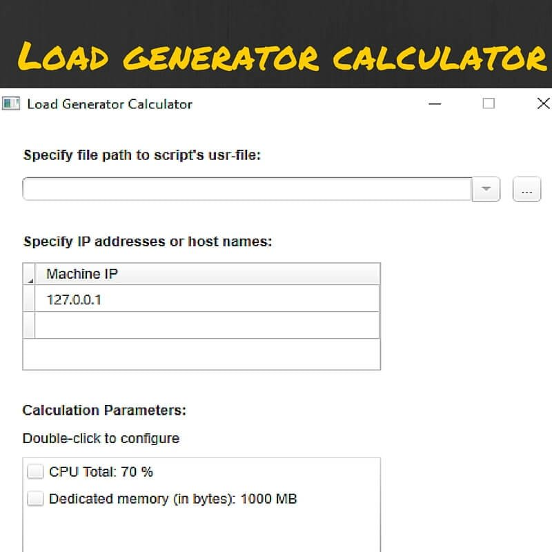How to use Load Generator Calculator