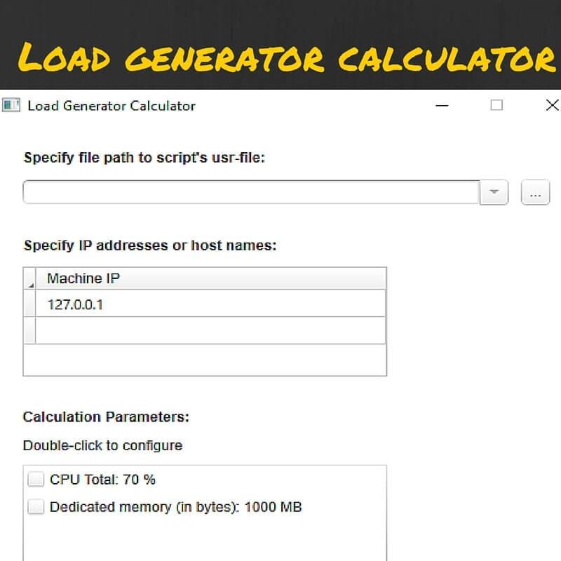 How to use Load Generator Calculator? - QAInsights