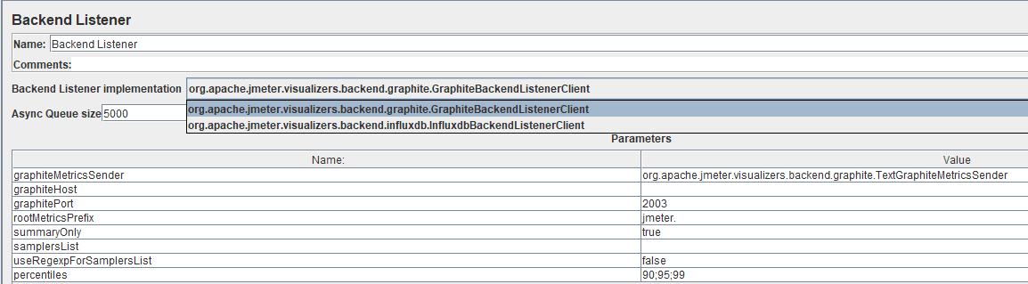 Download Apache JMeter 3.2 - BackendListener that supports InfluxDB