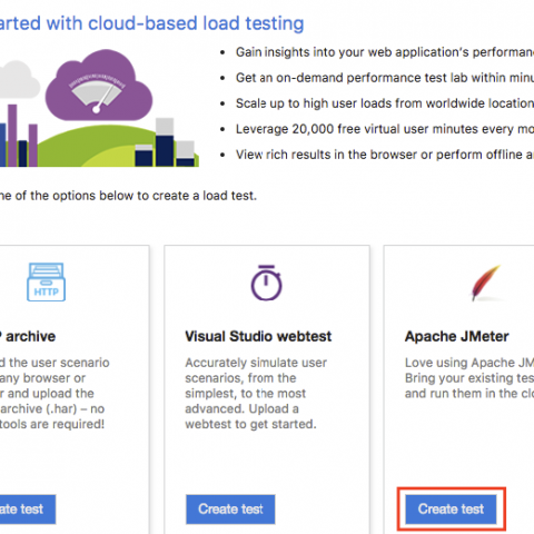 Apache JMeter tests with Visual Studio Team Services