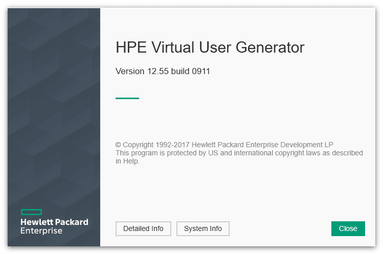 New splash screen of Virtual User Generator 12.55