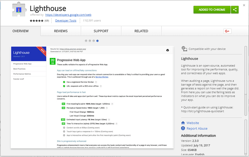 Measure Client-side Performance using Lighthouse