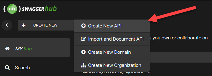 Create New API