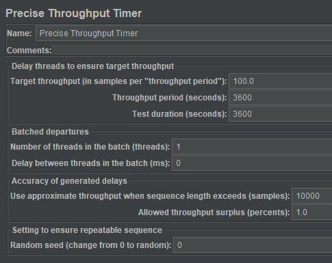 Precise Throughput Timer