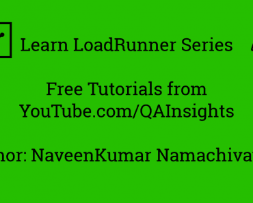 Learn LoadRunner Series – #2 - Recording Options in LoadRunner