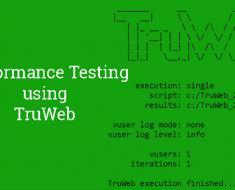 My first Udemy Course - Performance Testing using TruWeb is now available
