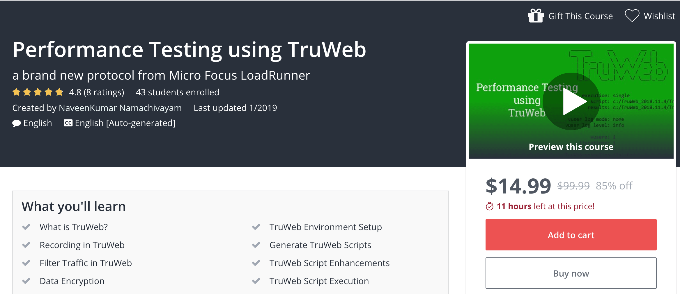 Performance Testing using TruWeb